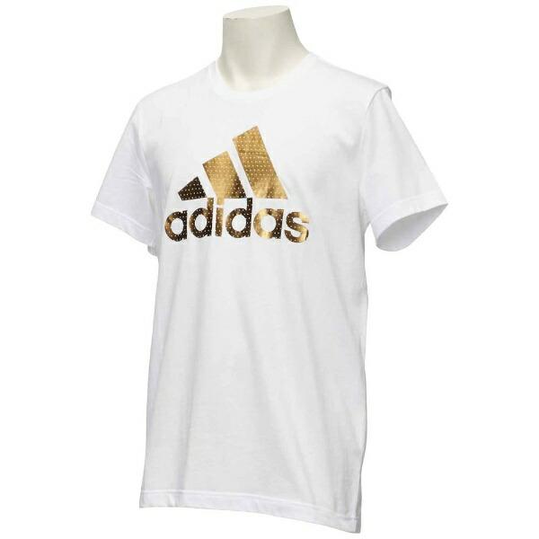 アディダスadidasトレーニングウェアBADGEOFSPORTSFOILTシャツメンズLサイズ(ホワイト)ELG82
