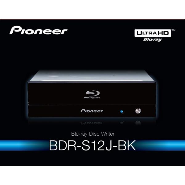 パイオニアPIONEERBDR-S12J-BK(ブルーレイドライブ/UHDBD再生対応/BDXL対応/M-DISC対応/SATA/ソフト付き)BDR-S12J-BK[BDRS12JBK]