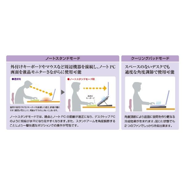 ミヨシMIYOSHI2WAY2FANノートPCスタンドキャスタータイプ[NSF04]