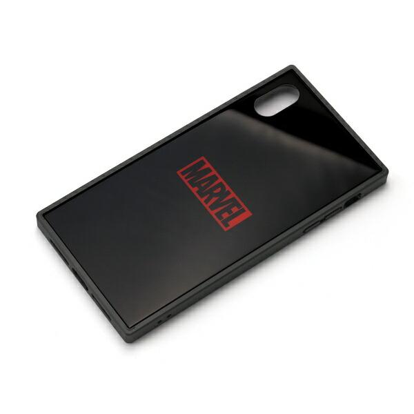 PGAiPhoneXSMax用ガラスハイブリッドケースPG-DCS630BKロゴ/ブラック