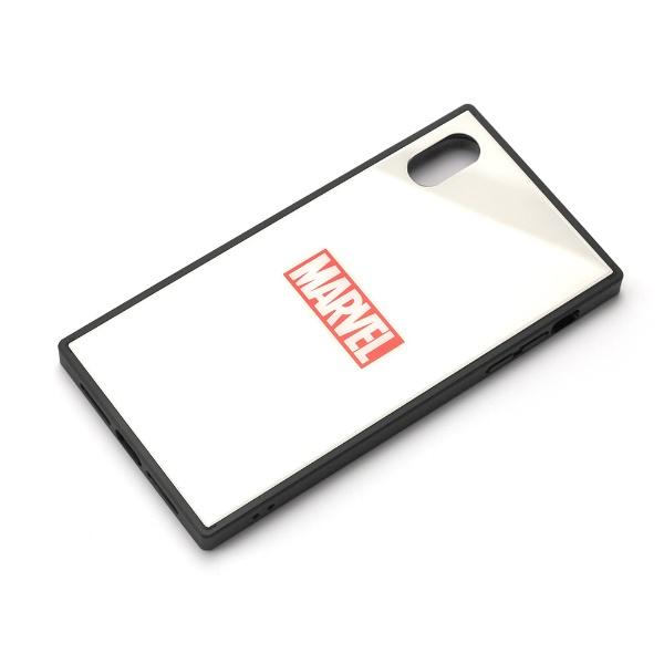 PGAiPhoneXSMax用ガラスハイブリッドケースPG-DCS631WHロゴ/ホワイト