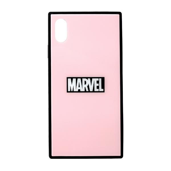 PGAiPhoneXSMax用ガラスハイブリッドケースPG-DCS633PKロゴ/ピンク
