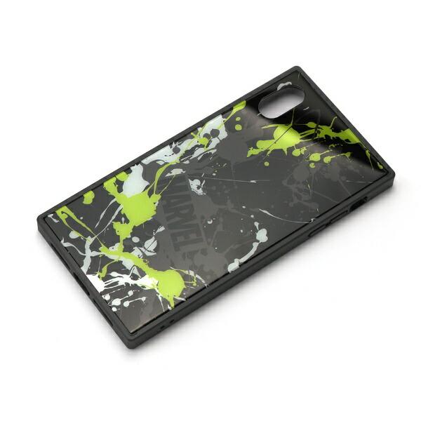 PGAiPhoneXSMax用ガラスハイブリッドケースPG-DCS634BKスプラッシュロゴ/ブラック