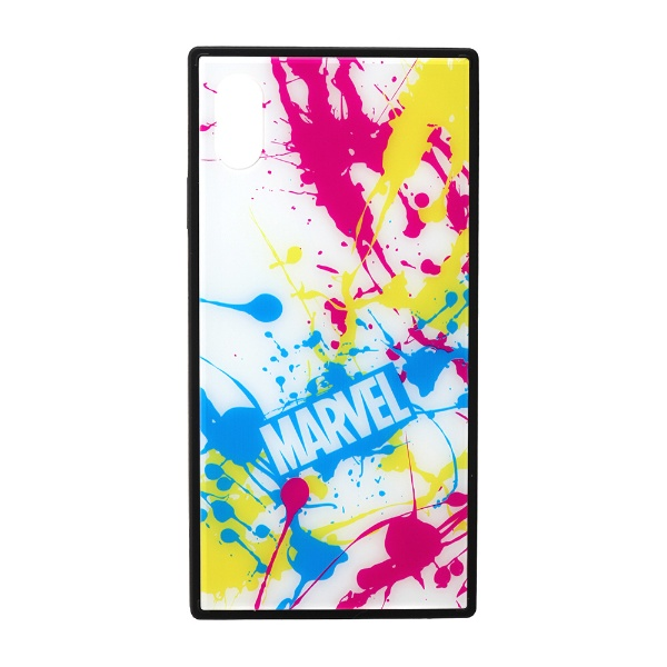 PGAiPhoneXSMax用ガラスハイブリッドケースPG-DCS635WHスプラッシュロゴ/ホワイト