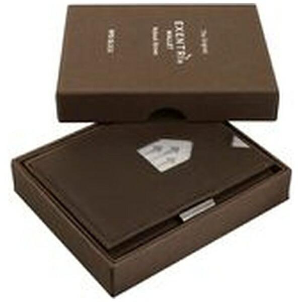 EXENTRIエキセントリEX018NUBUCKBROWNヌバックブラウンウォレットEXENTRIコンパクト財布