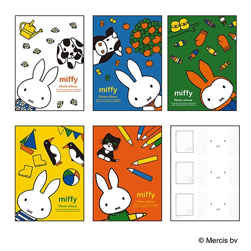 ナカバヤシNakabayashiミッフィー5冊BOXポケットアルバムL判3段210枚収納