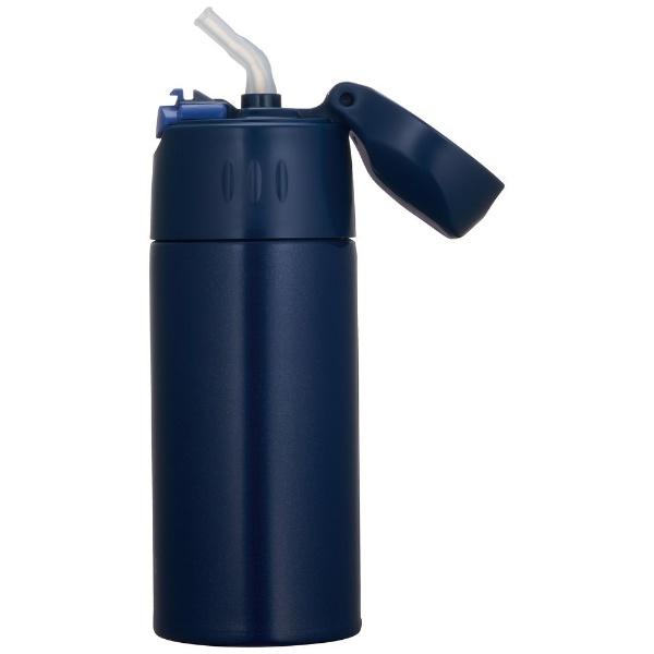サーモスTHERMOS真空断熱ストローボトル400mlネイビーFHL-401-NVY[FHL401NVY]