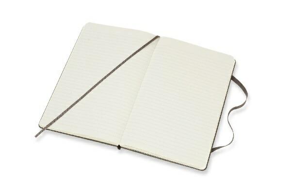 MOLESKINEモレスキンカラーノートノートブックハードカバールールド(横罫)アースブラウンLarge