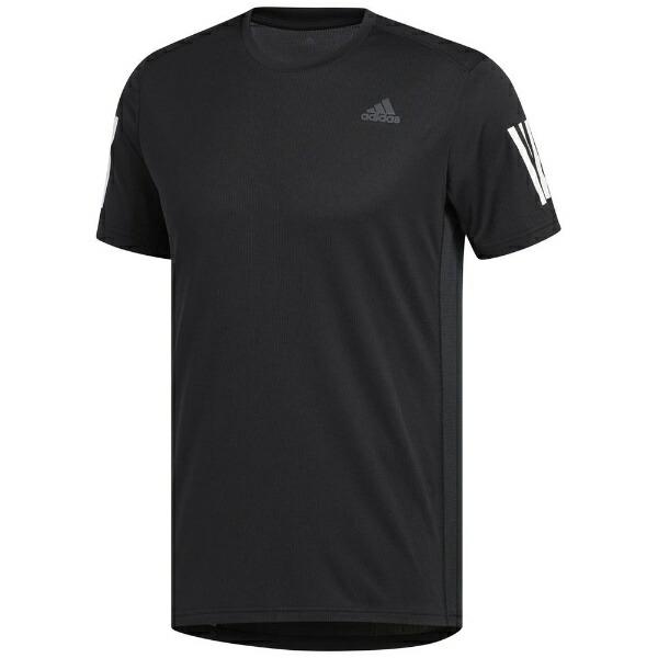 アディダスadidasメンズランニングシャツRESPONSETシャツ(Lサイズ/ブラック×ホワイト)FWB26DX1312