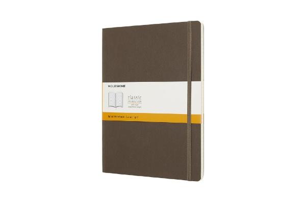 MOLESKINEモレスキンカラーノートノートブックソフトカバールールド(横罫)アースブラウンXL