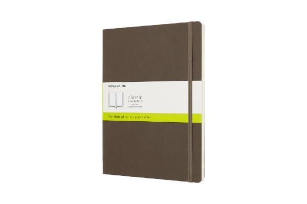 MOLESKINEモレスキンカラーノートノートブックソフトカバープレーン(無地)アースブラウンXL
