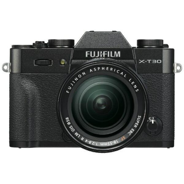 富士フイルムFUJIFILMX-T30-Bミラーレス一眼カメラXF18-55mmレンズキットブラック[ズームレンズ][FXT30LKB]