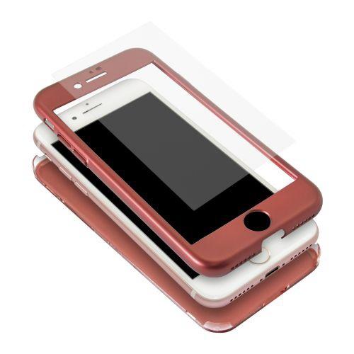 OWLTECHオウルテックiPhone8/7対応360度フルカバーケース液晶保護ガラス付きOWL-CVIA4719-REレッド
