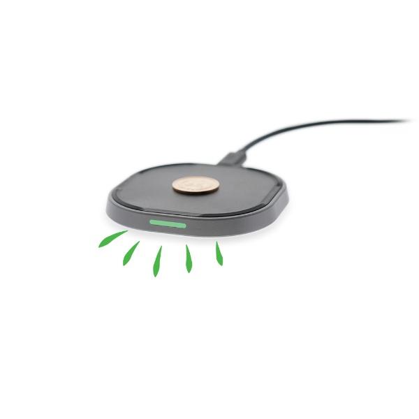 TUNEWEAR10WPlusWIRELESSCHARGER高速急速Qi7.5W対応ワイヤレス充電器iPhoneX8無線充電ワイヤレス充電パッドブラックTUN-IP-200103[ワイヤレスのみ/QuickCharge対応][TUNI200103]