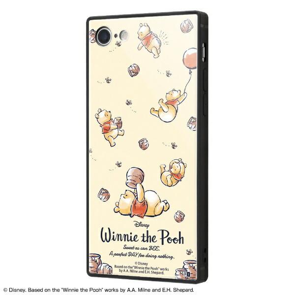 イングレムIngremiPhoneSE(第2世代)4.7インチ/iPhone8/7/『ディズニーキャラクター』/耐衝撃ガラスケースKAKUIQ-DP7K1B/PO003『くまのプーさん/PerfectDay』