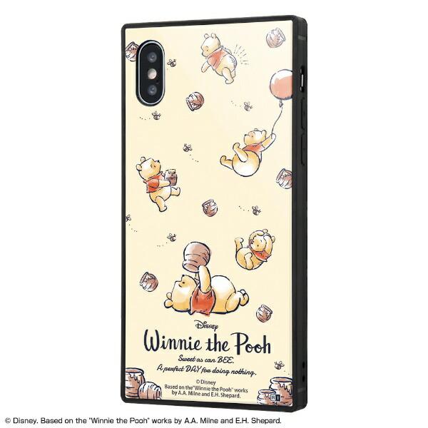 イングレムIngremiPhoneXS/X/『ディズニーキャラクター』/耐衝撃ガラスケースKAKUIQ-DP20K1B/PO003『くまのプーさん/PerfectDay』