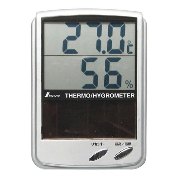 シンワ測定ShinwaRulesシンワ測定デジタル温湿度計BソーラーパネルA764-72989[A76472989]