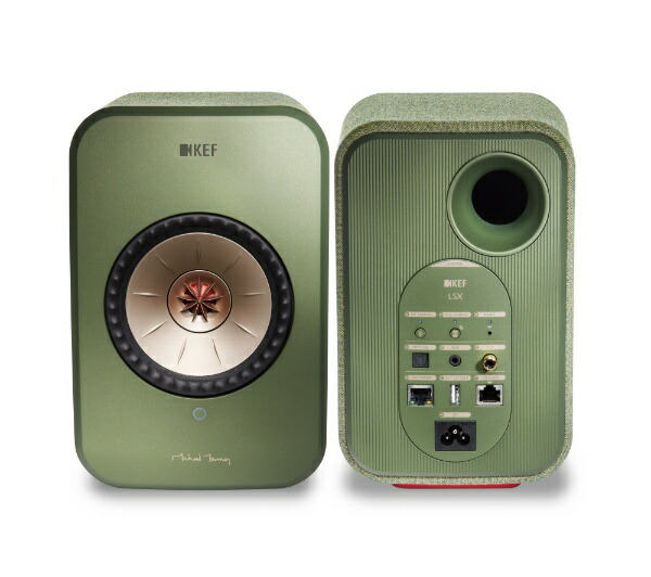 KEFケーイーエフWiFiスピーカーオリーブグリーンLSX[ハイレゾ対応/Bluetooth対応/Wi-Fi対応][LSX]