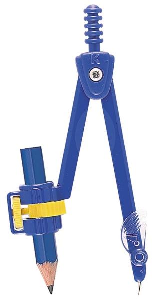 クツワKUTSUWA安全コンパス鉛筆用青