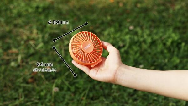 阪和HANWAPR-F023-CK小型扇風機PRISMATE(プリズメイト)アロマリングファンコーラルピンク[ハンディファン携帯扇風機]