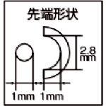 兼古製作所アネックスラバーグリップヤットコピン曲げタイプ135mm256[256]
