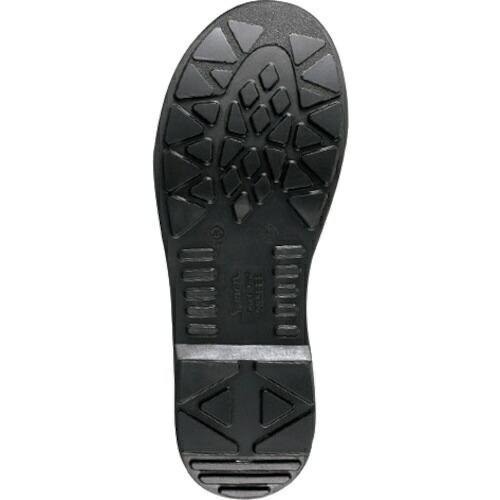 シモンSimonシモン2層ウレタン底安全編上靴AW28BK-25.0