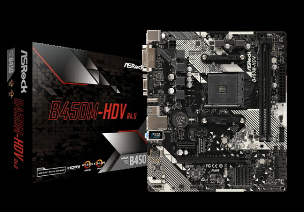 ASROCKアスロックASRockB450M-HDVR4.0B450M-HDVR4.0[SocketAM4]