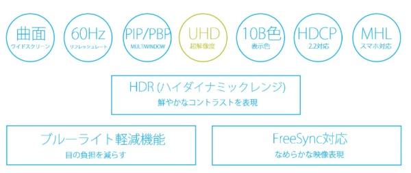 JAPANNEXTジャパンネクスト液晶モニターシルバーJN-VC655UHD[ワイド/曲面型/4K(3840×2160)][JNVC655UHD]