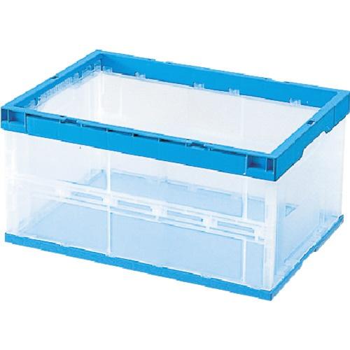 積水テクノ成型SEKISUICHEMICAL積水折りたたみコンテナOC−40L側面透明(枠・底面青)OC40LCB