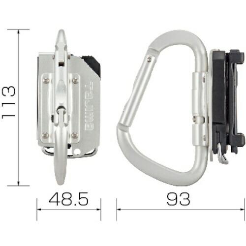 TJMデザインタジマ着脱式工具ホルダーアルミカラビナ大折りたたみSFKHA-CLF