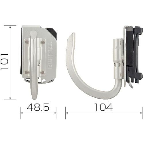 TJMデザインタジマ着脱式工具ホルダーアルミJフック折りたたみSFKHA-JF