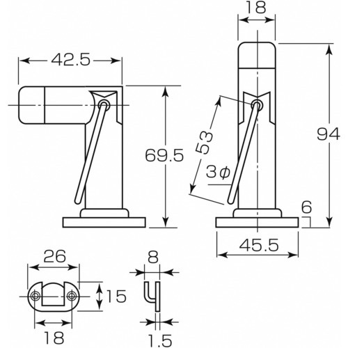 丸喜金属MARUKIHARDWAREMK兼用戸当TD-10907