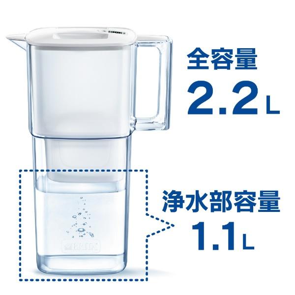 ブリタBRITAKBLQCW1浄水ポットリクエリホワイト[KBLQCW1]