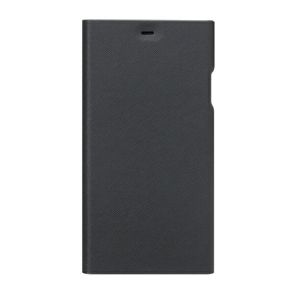 PGAiPhoneXSMAX用タフフリップカバーPG-18ZFP13BKブラック