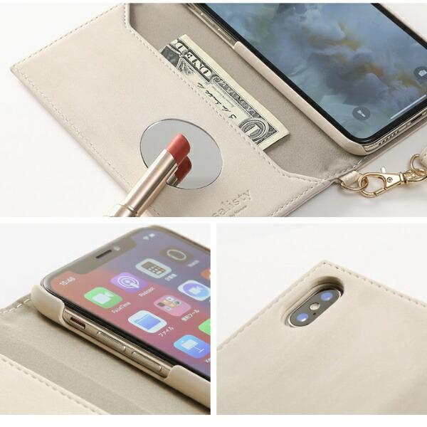 HAMEEハミィiPhoneSE(第2世代)4.7インチ/iPhone8/7/6s/6専用salisty(サリスティ)Qスエード×メタルロゴダイアリーケースQ-DC008C276-906507ライトベージュ
