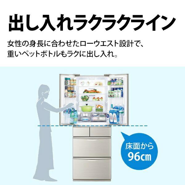 シャープSHARP《基本設置料金セット》SJ-F462E-S冷蔵庫プラズマクラスター冷蔵庫シルバー系[6ドア/観音開きタイプ/455L][冷蔵庫大型SJF462E]【zero_emi】