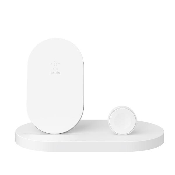 BELKINベルキンF8J235DQWHTBOOST↑UPWirelessChargingDockforiPhone+AppleWatch+USB-Aportホワイト[F8J235DQWHT]