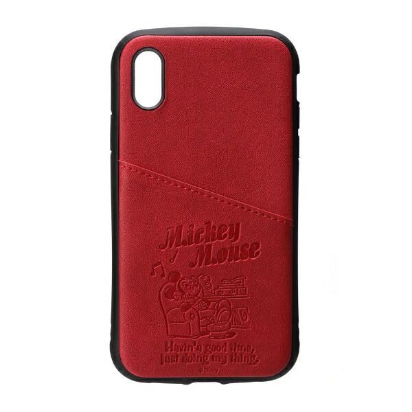 PGAiPhoneXs/X用タフポケットケースPG-DCS680MKYミッキーマウス/レッド
