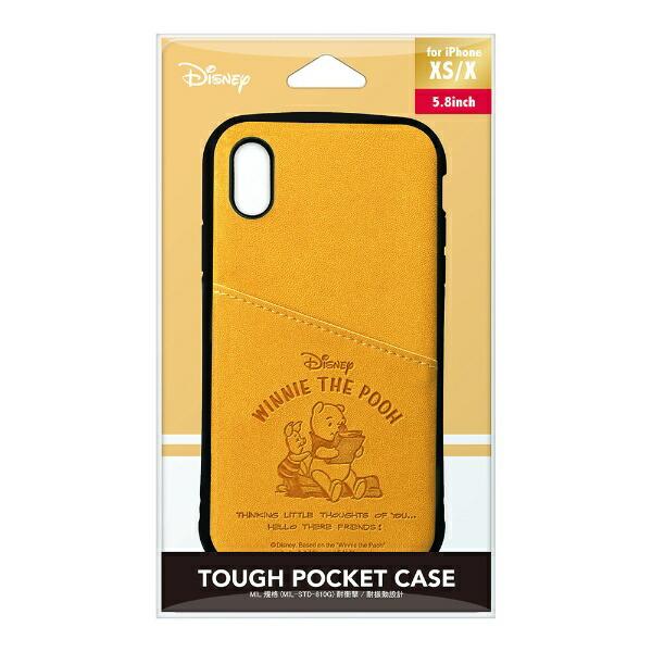 PGAiPhoneXs/X用タフポケットケースPG-DCS682POOくまのプーさん