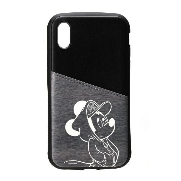 PGAiPhoneXs/X用タフポケットケースPG-DCS683MKYミッキーマウス/ブラック