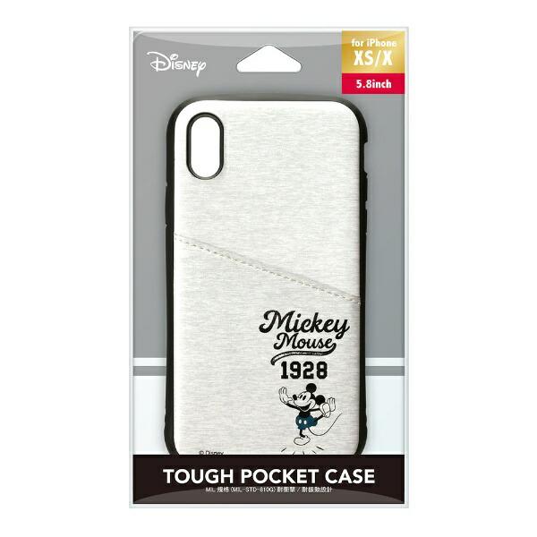 PGAiPhoneXs/X用タフポケットケースPG-DCS684MKYミッキーマウス/グレー
