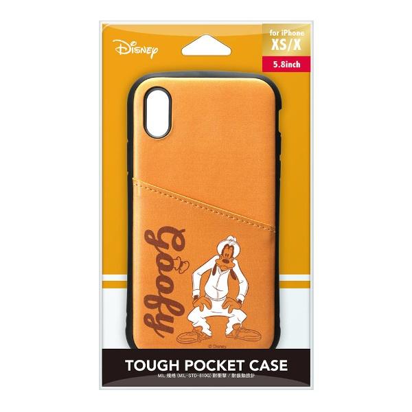 PGAiPhoneXs/X用タフポケットケースPG-DCS686GFYグーフィー