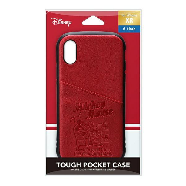 PGAiPhoneXR用タフポケットケースPG-DCS690MKYミッキーマウス/レッド