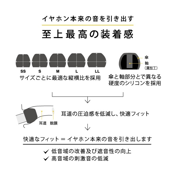 FINALファイナルイヤピースEタイプALLサイズ10個CLEARFI-EPECLA4