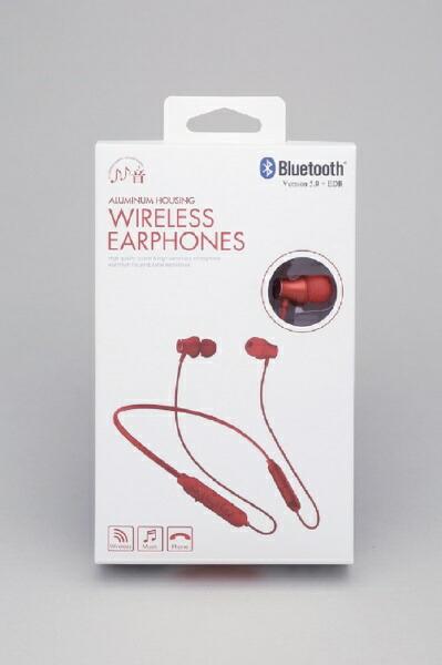 たのしいかいしゃbluetoothイヤホンカナル型ワイヤレスシリーズレッドTA-BT2RD[リモコン・マイク対応/ワイヤレス(ネックバンド)/Bluetooth][TABT2RD]