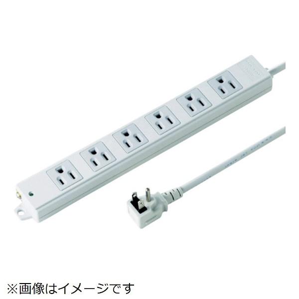 サンワサプライSANWASUPPLY工事物件タップTAP-KE6NL-3[3.0m/6個口/スイッチ無]