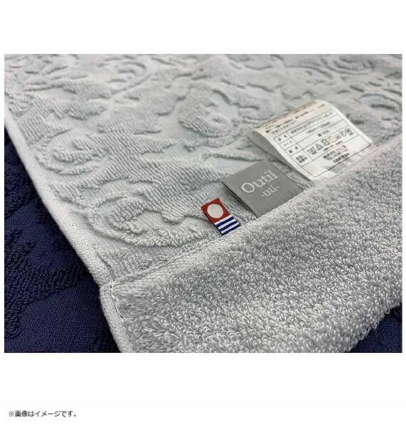 生毛工房今治タオルケットアラベスクジャガードシングルサイズ(140×200cm/ネイビー/日本製今治産)