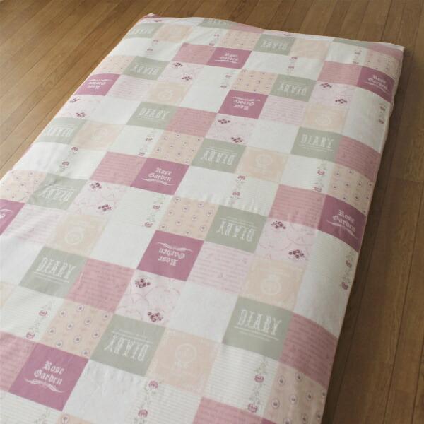 小栗OGURI【敷ふとんカバー】綿100%両面プリントシングルロングサイズ(105×215cm/ピンク)HAIDEN