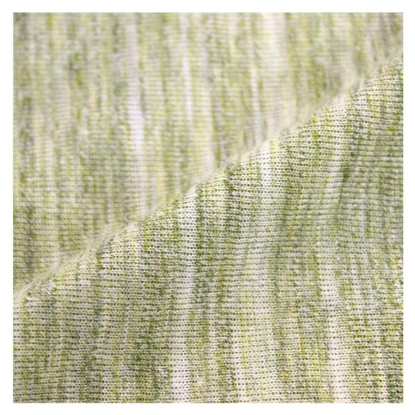 小栗OGURI【敷ふとんカバー】天竺ニットカーマンシングルロングサイズ(ポリエステル65%、綿35%/105×215cm/グリーン)