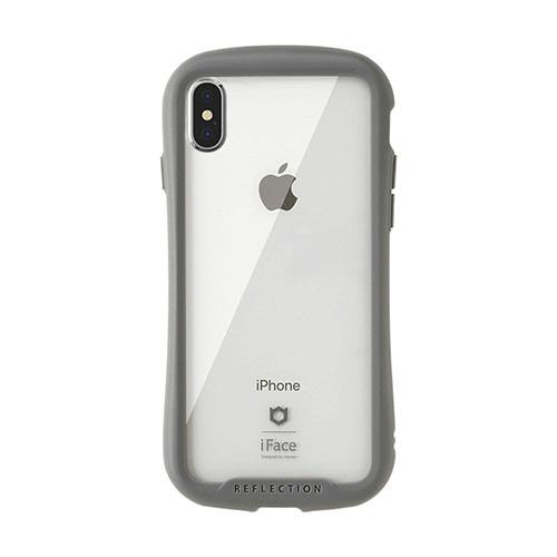 HAMEEハミィ[iPhoneXS/X専用]iFaceReflection強化ガラスクリアケース41-907160グレー